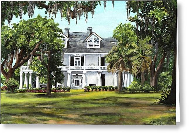 New Orleans Home Greeting Cards - Kenilworth Plantation Greeting Card by Elaine Hodges