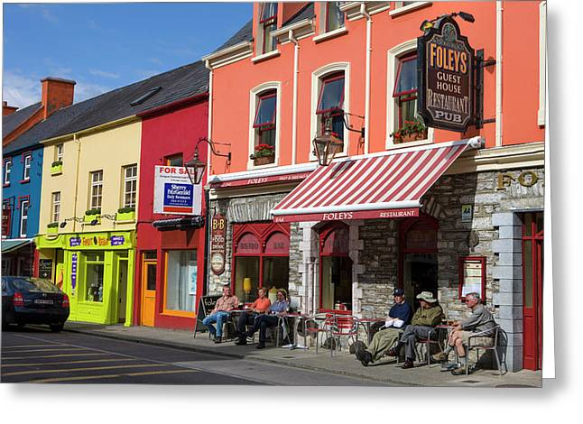 Kenmare County Kerry Ireland Shop Fronts Greeting Card by Tom Norring