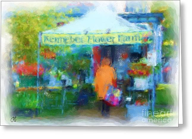 Maine Farms Greeting Cards - Kennebec Flower Farm 1032 20140926 Greeting Card by Julie Knapp