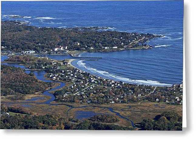 Maine Beach Greeting Cards - Kennebunk, Maine Greeting Card by Dave Cleaveland