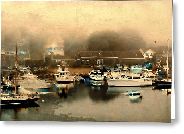 Maine Landscape Greeting Cards - Kennebunkport Harbor Greeting Card by Diana Angstadt