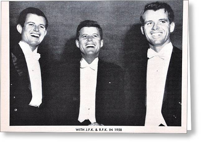 Bobby Kennedy Greeting Cards - Kennedy Brothers 1947 Greeting Card by Roland Dupree