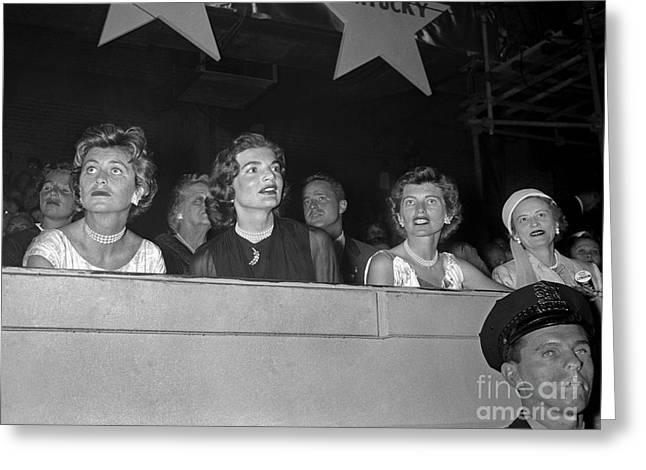 Rally Greeting Cards - Kennedy Ladies November 1960 Greeting Card by Martin Konopacki