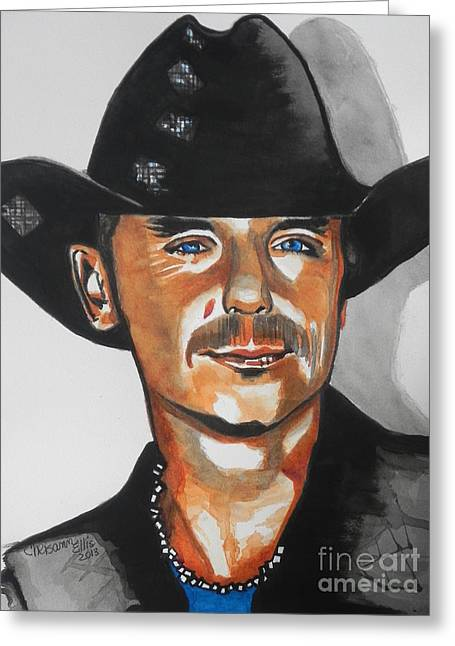 Nashville Tennessee Greeting Cards - Kenny Chesney  02 Greeting Card by Chrisann Ellis