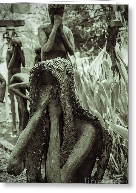 Slavery Greeting Cards - Kenny Hill Sculptures Greeting Card by Jim Cook