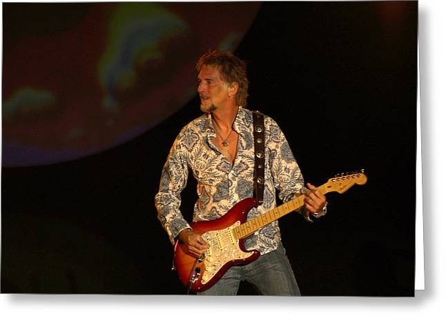 Player Greeting Cards - Kenny Loggins Greeting Card by Bill Gallagher
