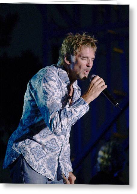 Live Performance Greeting Cards - Kenny Loggins II Greeting Card by Bill Gallagher