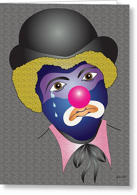 Charles Smith Greeting Cards - Kennys Clown Greeting Card by Charles Smith