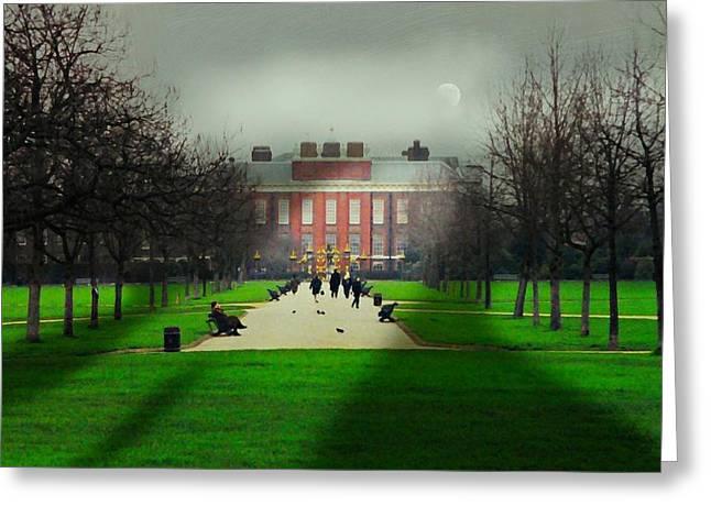 Princess Diana Greeting Cards - Kensington Palace London Greeting Card by Diana Angstadt