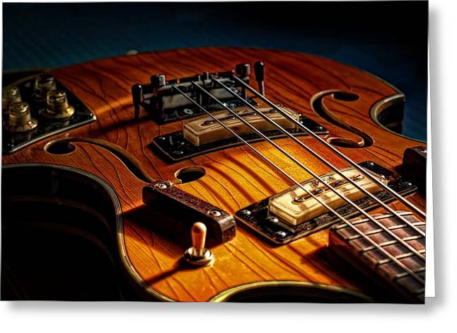 Electric Greeting Cards - Kent Bass Greeting Card by Chris Fleming