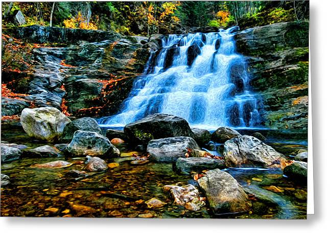 Recreational Pool Greeting Cards - Kent Falls Connecticut Greeting Card by Sabine Jacobs