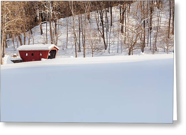 Connecticut Covered Bridge Greeting Cards - Kent Falls Covered Bridge Greeting Card by Bill  Wakeley