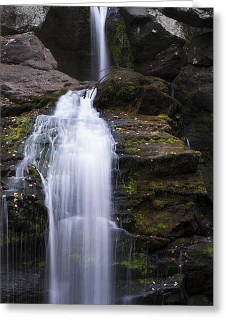 Kent Falls State Park Greeting Cards - Kent Falls Panorama Greeting Card by Clifford Pugliese