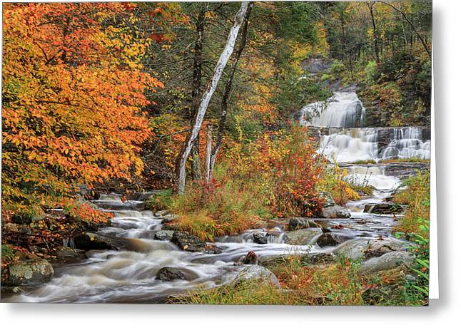 Ethereal Waterfalls Greeting Cards - Kent Falls State Park Greeting Card by Bill  Wakeley
