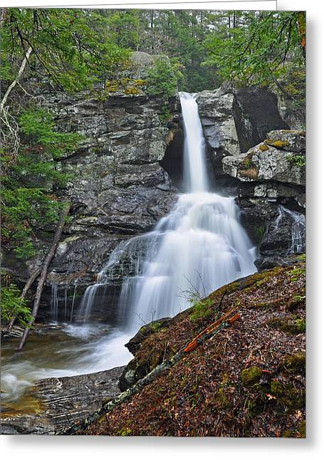Kent Falls State Park Greeting Cards - Kent Falls State Park CT Waterfall Greeting Card by Glenn Gordon