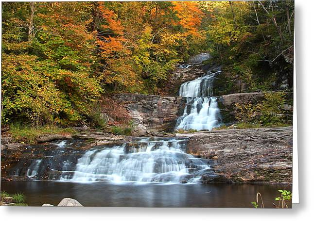 Kent Falls State Park Greeting Cards - Kent in Fall Greeting Card by Andrea Galiffi