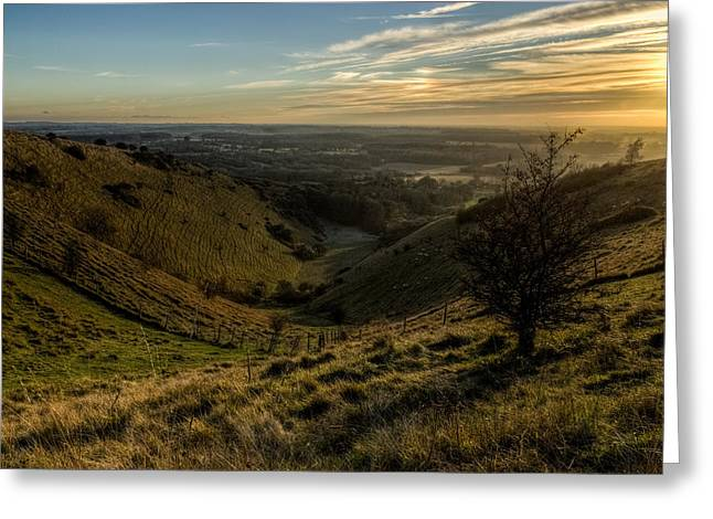 Kent Greeting Cards - Kent Landscape Greeting Card by Ian Hufton