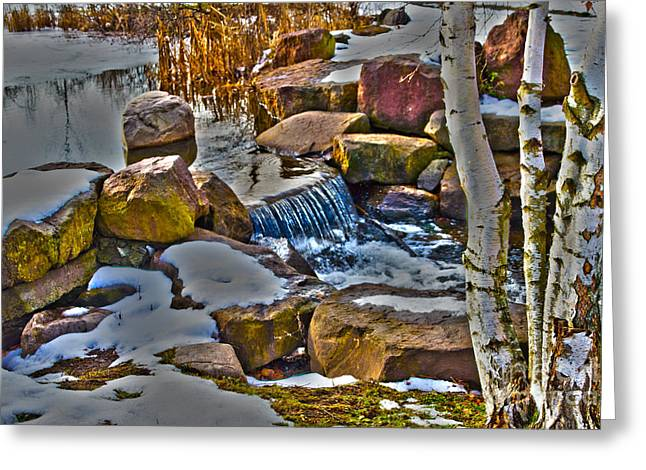 Williams Dam Greeting Cards - Kent Park Outlet Greeting Card by William Norton