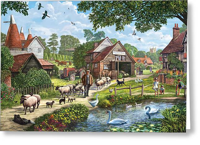 Crisp Greeting Cards - Kentish Farmer Greeting Card by Steve Crisp