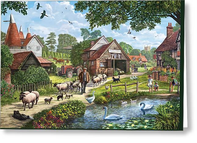 Kentish Farmer Greeting Card by Steve Crisp