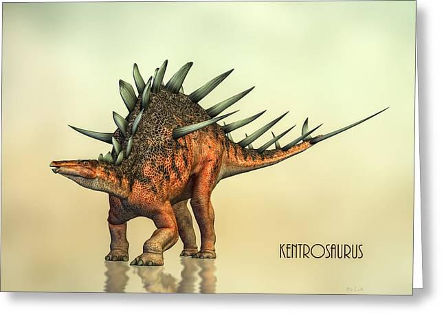 Kentrosaurus Dinosaur Greeting Card by Bob Orsillo