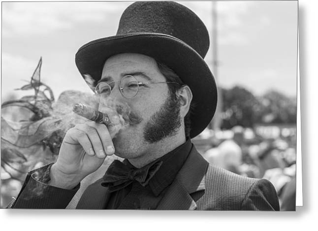 Black Top Greeting Cards - Kentucky Derby Infield Cigar Greeting Card by John McGraw