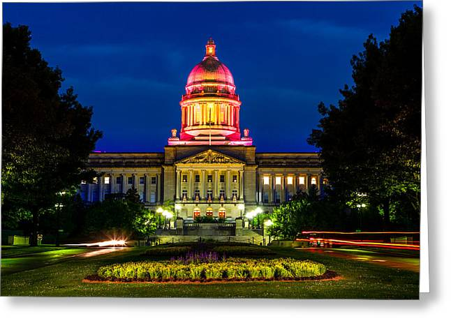 Capitol Flowers Greeting Cards - Kentucky State Capitol Greeting Card by Alexey Stiop