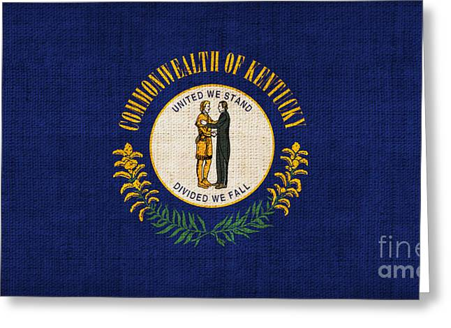Kentucky Greeting Cards - Kentucky State Flag Greeting Card by Pixel Chimp