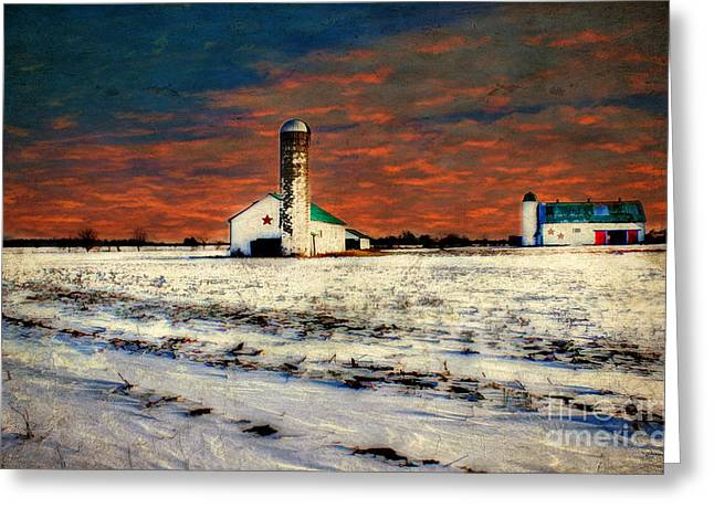 Cold Morning Sun Greeting Cards - Kentucky Sunrise Greeting Card by Darren Fisher