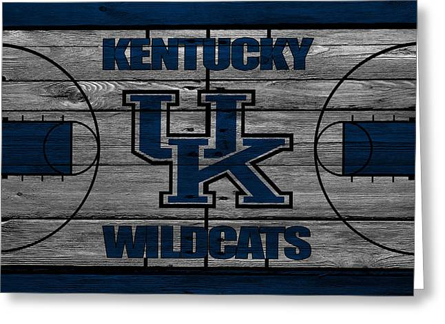 Recently Sold -  - Dunk Greeting Cards - Kentucky Wildcats Greeting Card by Joe Hamilton