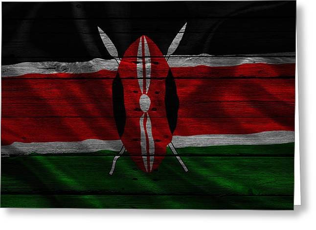Continent Greeting Cards - Kenya Greeting Card by Joe Hamilton