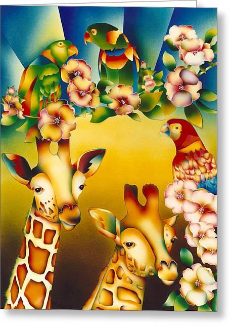 Acrylic Prints Greeting Cards - Kenya Kingdom Greeting Card by Julianne  Ososke