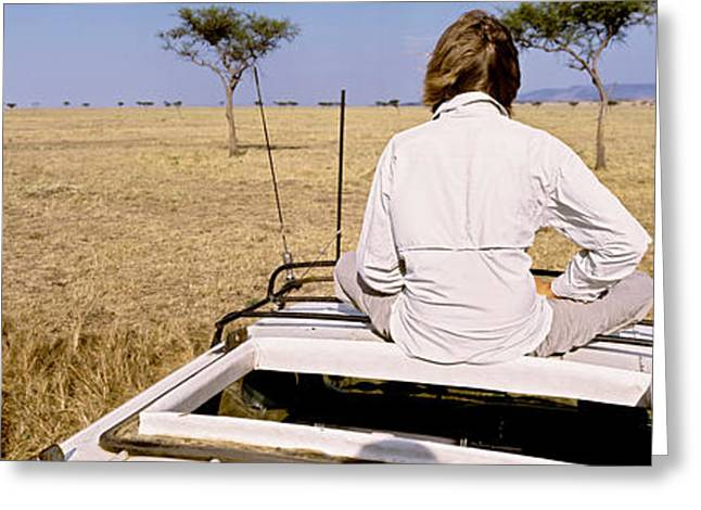 Rural Landscapes Greeting Cards - Kenya, Maasai Mara, Safari Greeting Card by Panoramic Images