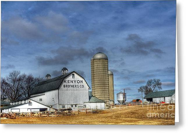 Kane Greeting Cards - Kenyon Brothers Dairy Greeting Card by David Bearden