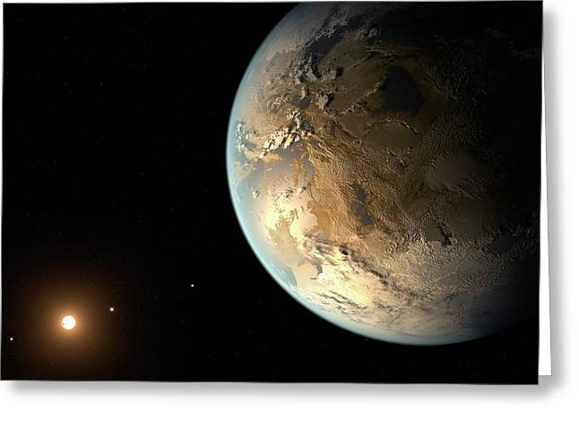 Kepler-186f Greeting Card by Nasa/ames/seti Institute/jpl-caltech