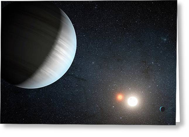 Kepler-47 Planetary System Greeting Card by Nasa/jpl-caltech/t. Pyle