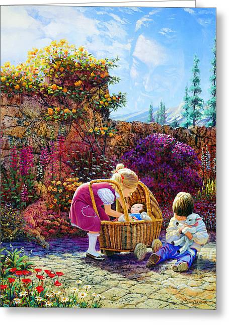 Religious Art Paintings Greeting Cards - Kept by His Hand Greeting Card by Graham Braddock