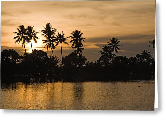 Kerala Greeting Cards - Kerala Sunset Greeting Card by Mountain Dreams