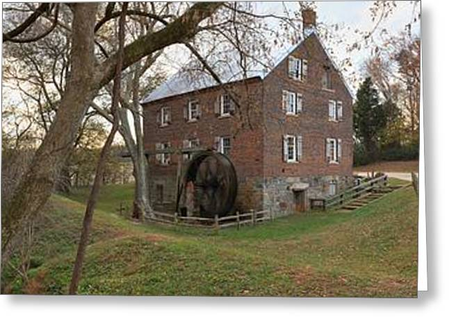 Kerr Greeting Cards - Kerr Grist Mill Landscape Panorama Greeting Card by Adam Jewell