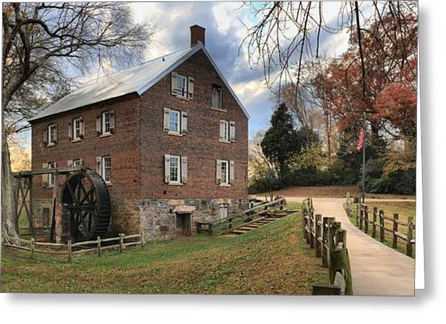 Kerr Greeting Cards - Kerr Mill Panorama Greeting Card by Adam Jewell