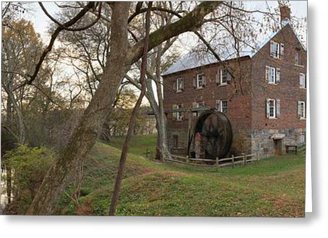 Kerr Greeting Cards - Kerr Mill Panorama Landscape Greeting Card by Adam Jewell