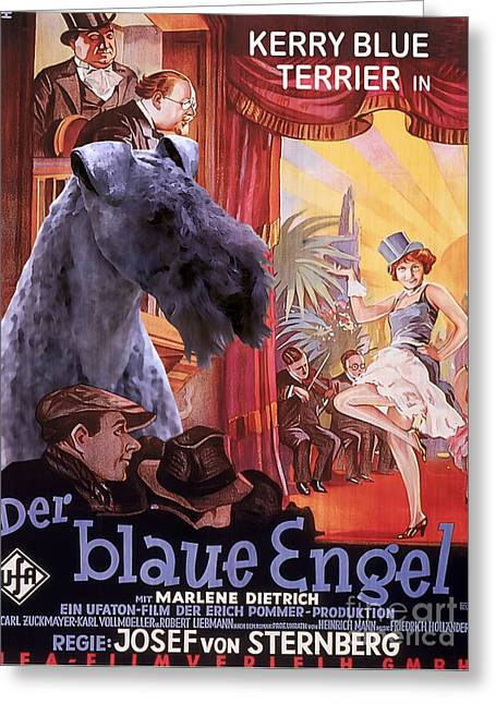 Engels Greeting Cards - Kerry Blue Terrier Art Canvas Print - Der Blaue Engel Movie Poster Greeting Card by Sandra Sij