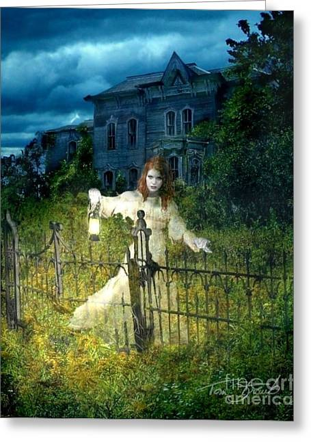 Paranormal Digital Greeting Cards - Kerzner Manor Greeting Card by Tom Straub