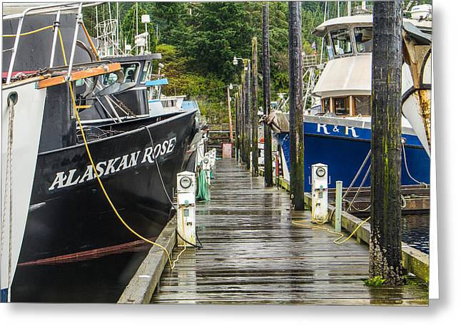 Deadliest Catch Greeting Cards - Ketchikan Fishing Boats Greeting Card by Steven Bateson