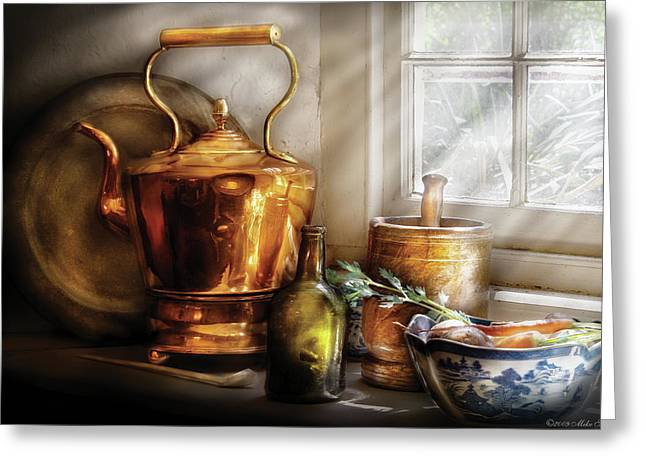Msavad Greeting Cards - Kettle - Cherished Memories Greeting Card by Mike Savad
