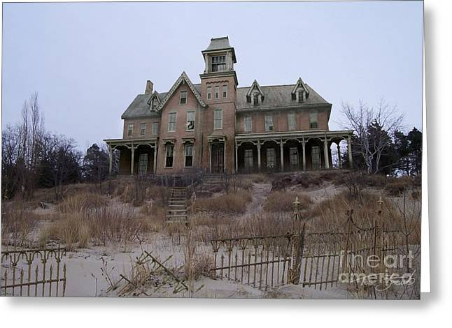 Haunted House Digital Art Greeting Cards - Kettle Point Manor Greeting Card by Tom Straub