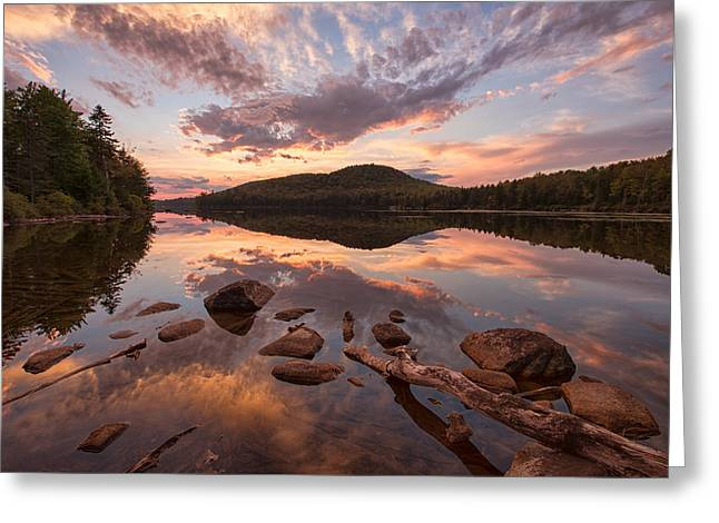 Groton Greeting Cards - Kettle Pond Sunset Greeting Card by Michael Blanchette