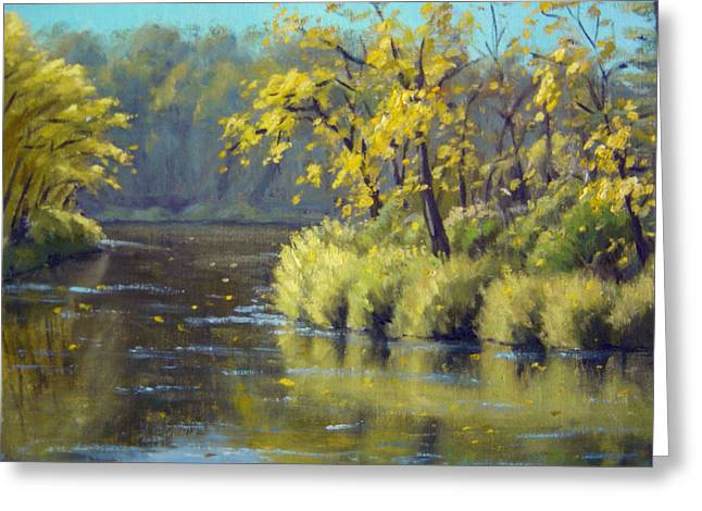Boundary Waters Paintings Greeting Cards - Kettle River Reflections Greeting Card by Rick Hansen