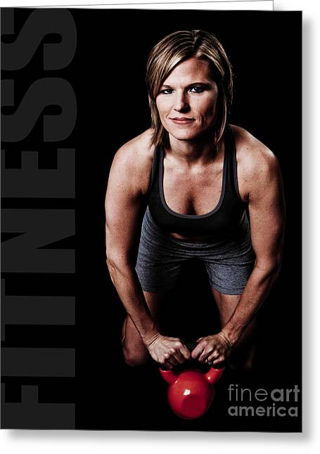 Kettlebell Fitness Poster Greeting Card by Jt PhotoDesign
