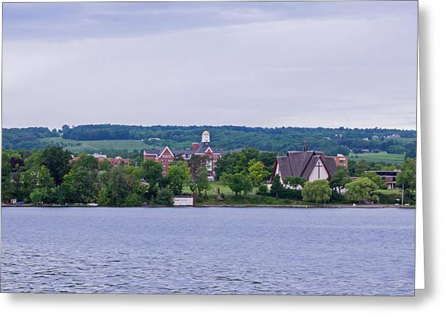 Keuka Greeting Cards - Keuka College from the Lake Greeting Card by Photographic Arts And Design Studio
